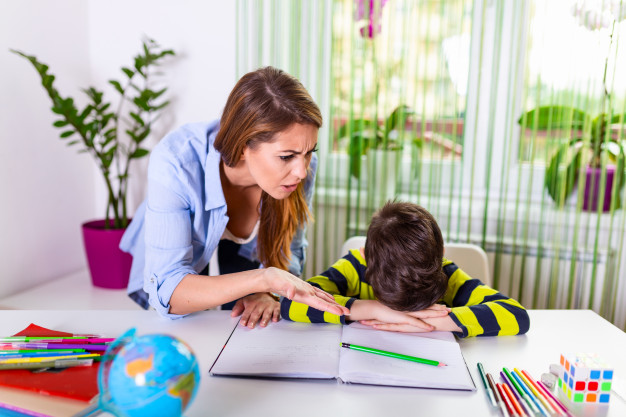 Child facing difficulty in studying
