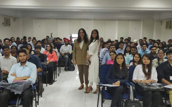 Our psychologist counducting a stress management workshop at LalaLajpatrai College