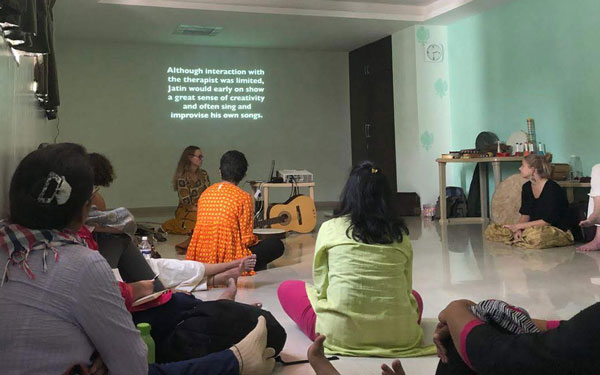Music Therapy Workshop conducted by our psychologists