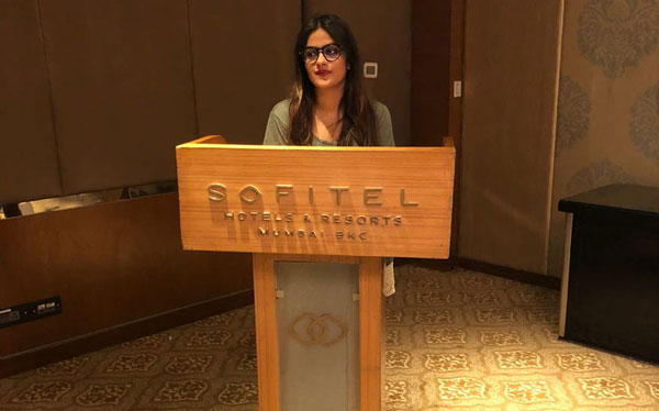 Seminar on 'Application of Positive Psychology at Workplace' given by our Senior Psychologist and CEO Jaini Savla at Sofitel Hotel